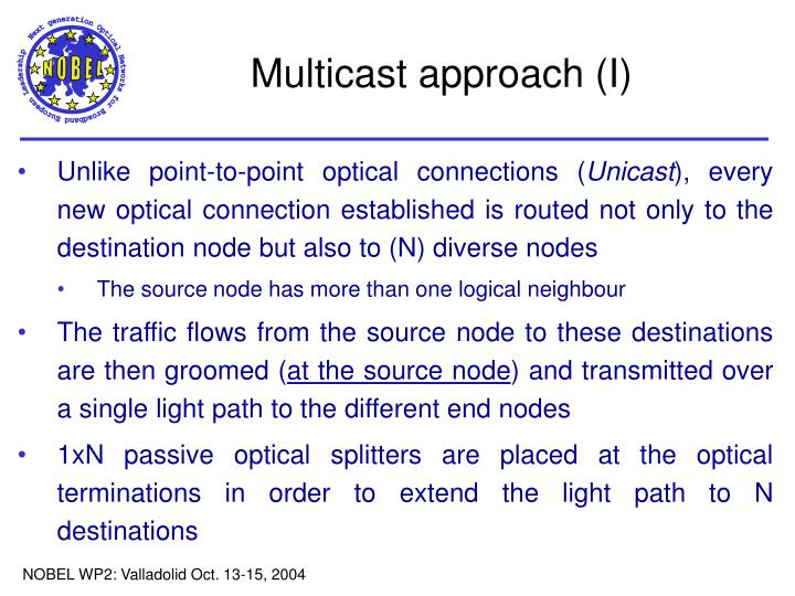 Multicast approach (I)