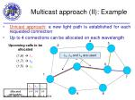 multicast approach ii example