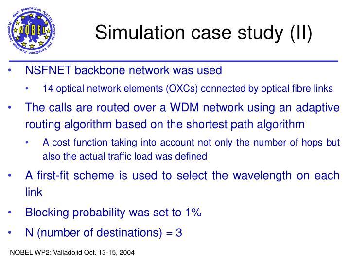 Simulation case study (II)