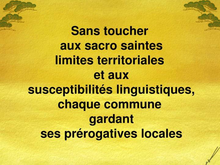 Sans toucher