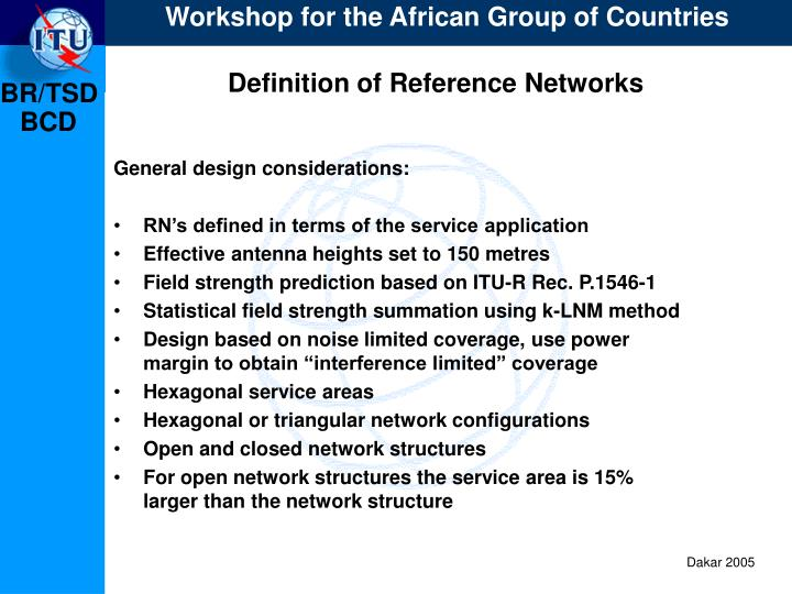 Definition of Reference Networks