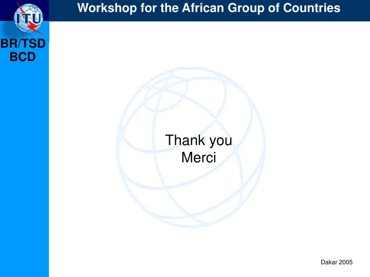 Workshop for the African Group of Countries