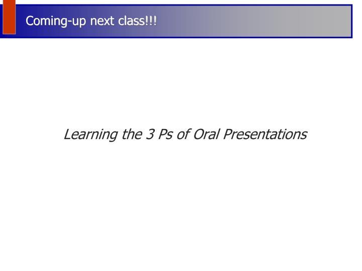 Coming-up next class!!!