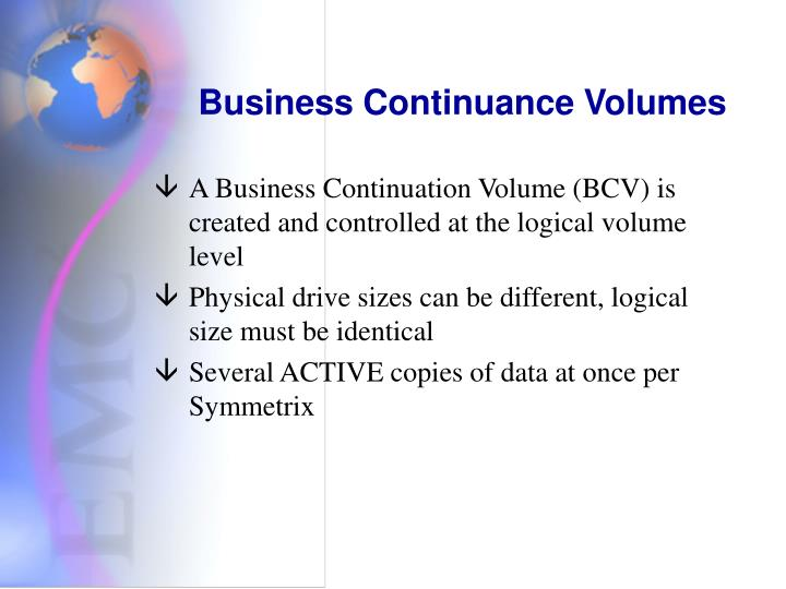 Business Continuance Volumes