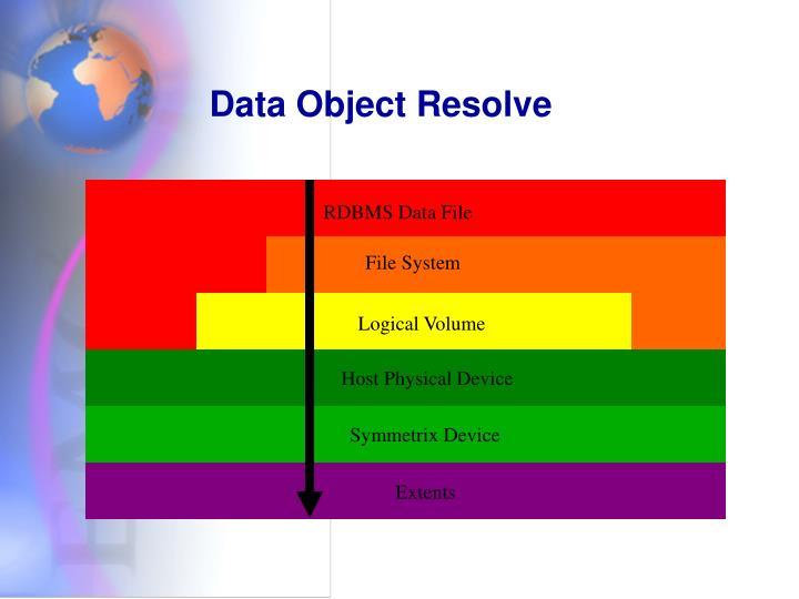 Data Object Resolve