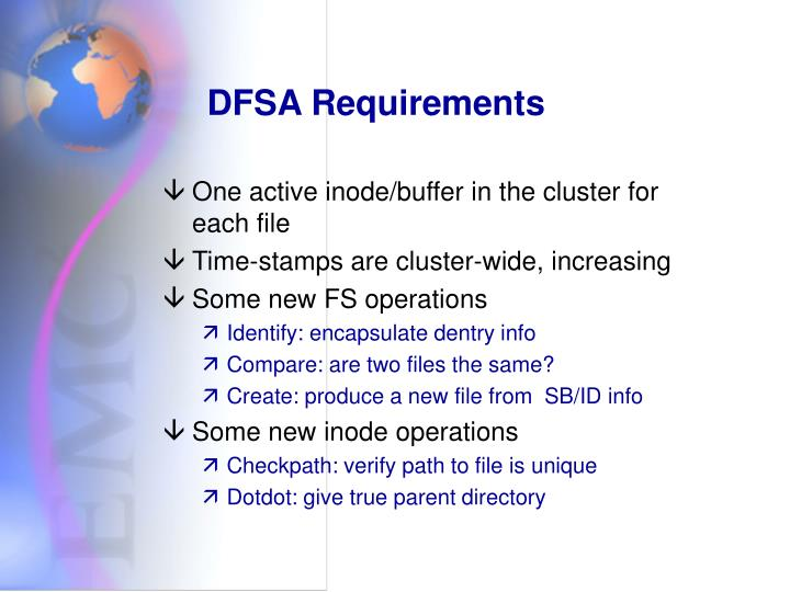 DFSA Requirements