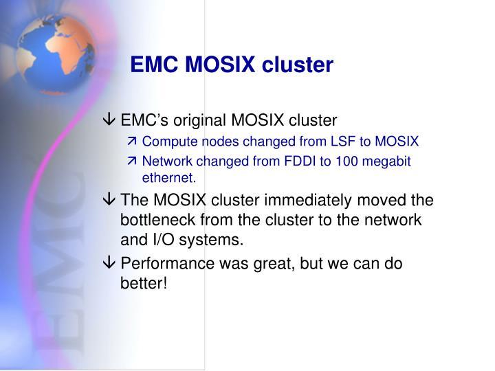 EMC MOSIX cluster
