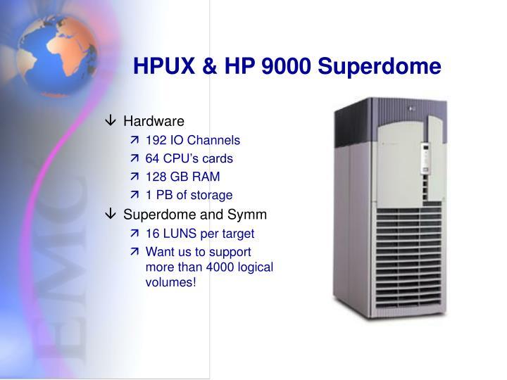 HPUX & HP 9000 Superdome