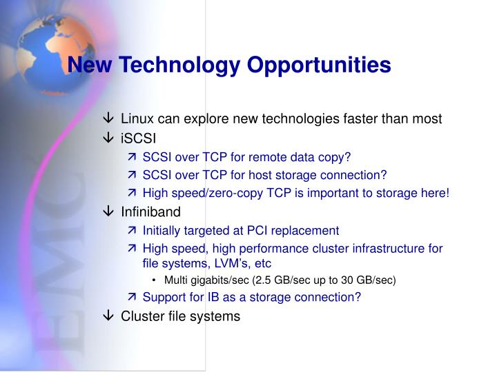 New Technology Opportunities