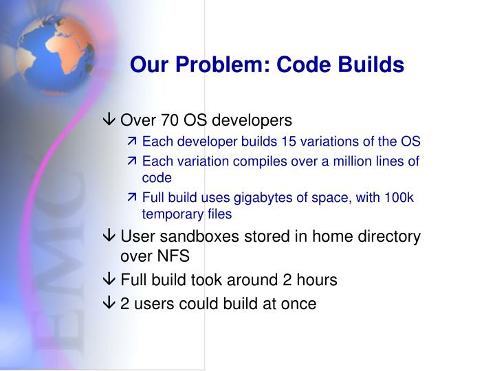 Our Problem: Code Builds