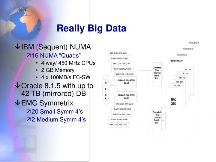 Really Big Data