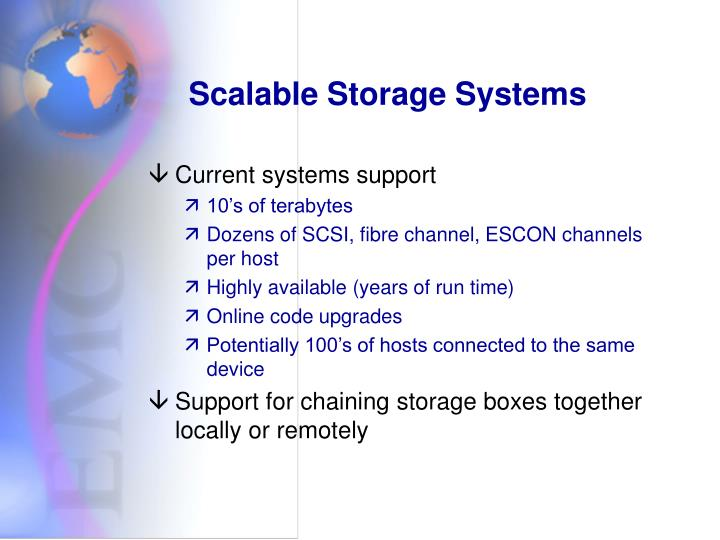 Scalable Storage Systems