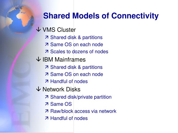 Shared Models of Connectivity