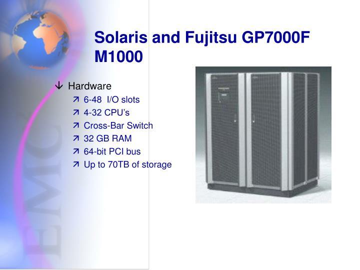 Solaris and Fujitsu GP7000F M1000