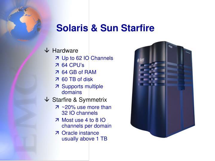 Solaris & Sun Starfire