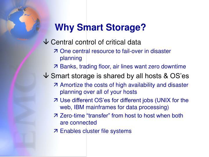 Why Smart Storage?