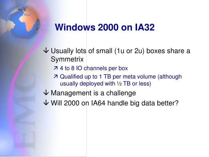 Windows 2000 on IA32