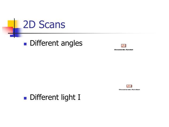 2D Scans