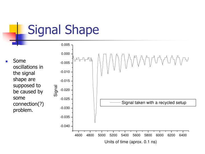 Signal Shape