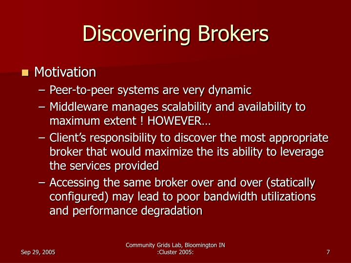 Discovering Brokers