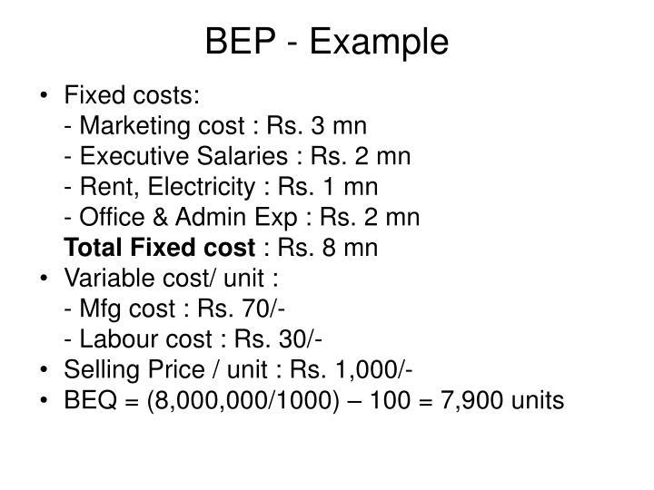 BEP - Example