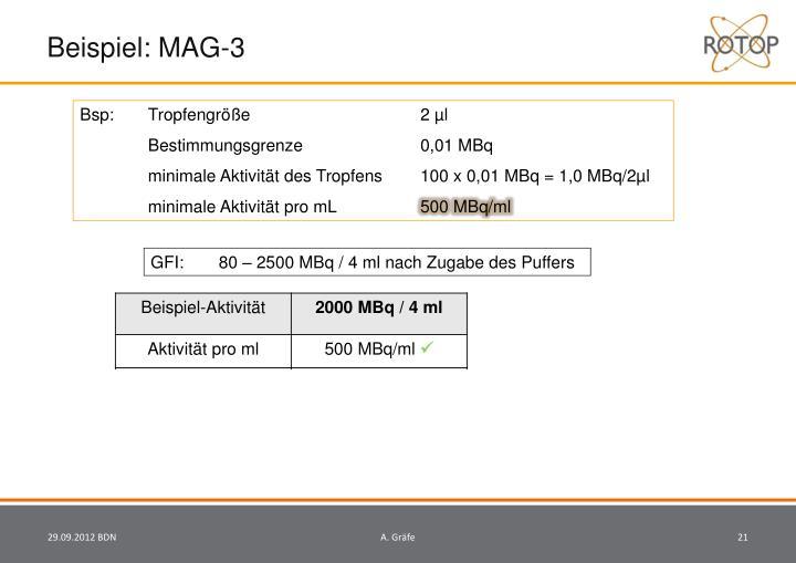 Beispiel: MAG-3