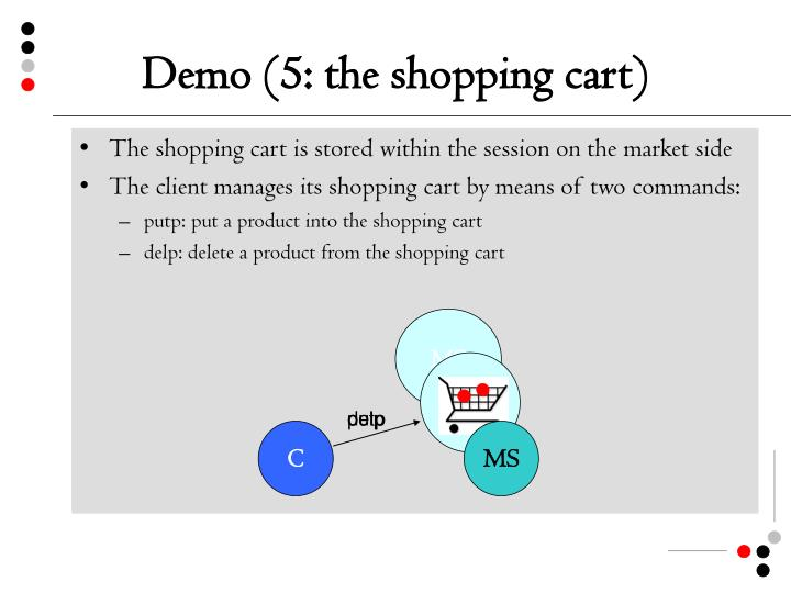 Demo (5: the shopping cart)
