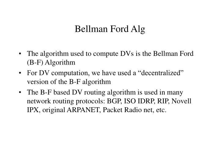Bellman Ford Alg