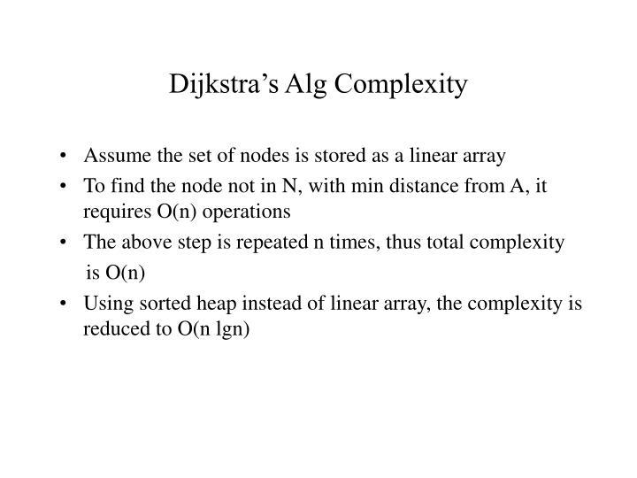 Dijkstra's Alg Complexity
