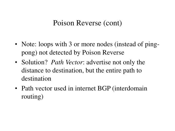 Poison Reverse (cont)