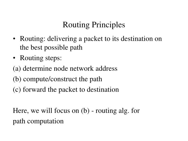 Routing Principles