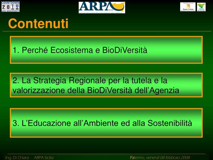 1. Perché Ecosistema e BioDiVersità