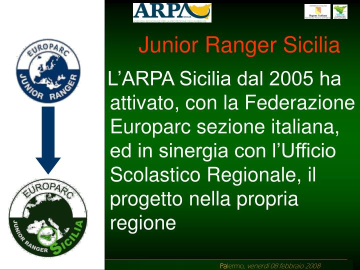 Junior Ranger Sicilia