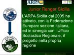 junior ranger sicilia