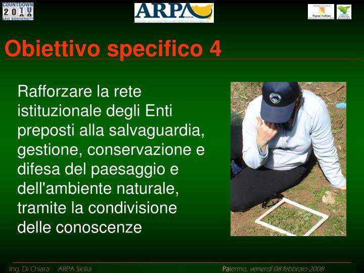 Obiettivo specifico 4