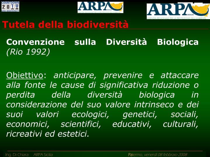 Tutela della biodiversità