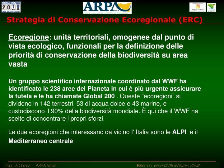 Strategia di Conservazione Ecoregionale (ERC)
