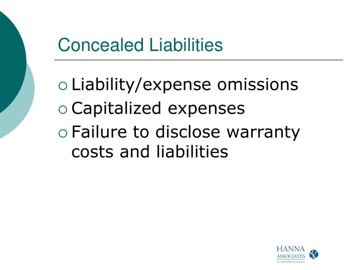 Concealed Liabilities