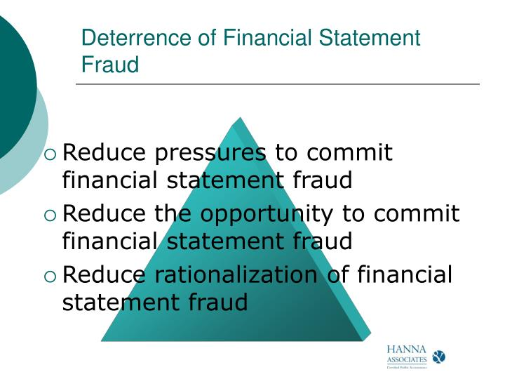 Deterrence of Financial Statement Fraud