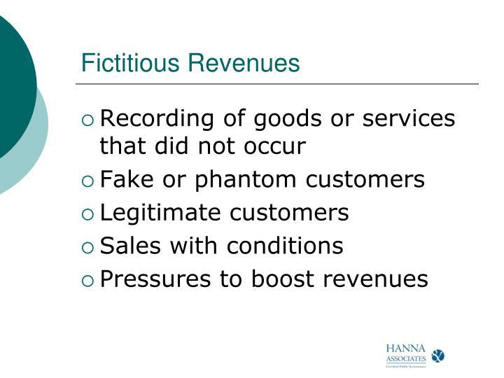 Fictitious Revenues