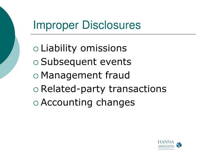 Improper Disclosures