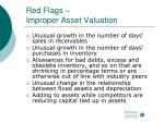 red flags improper asset valuation1