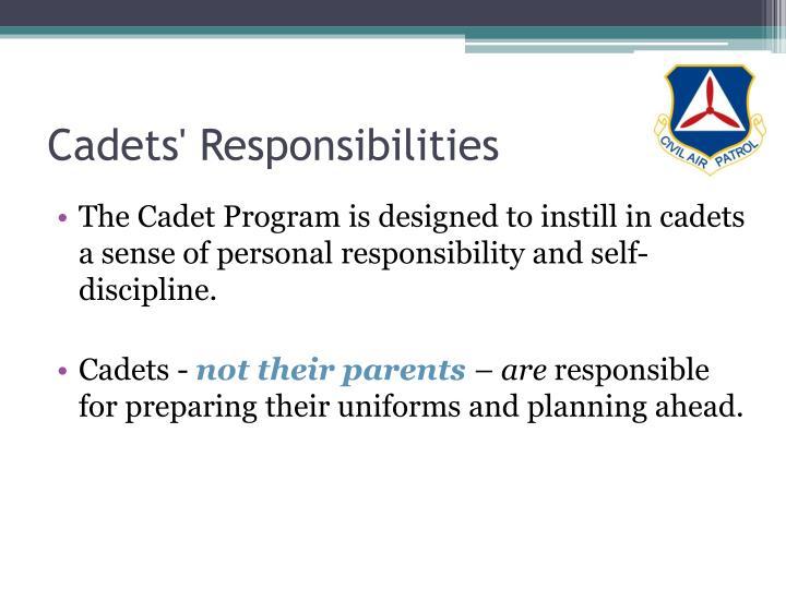 Cadets' Responsibilities
