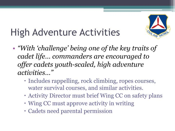 High Adventure Activities