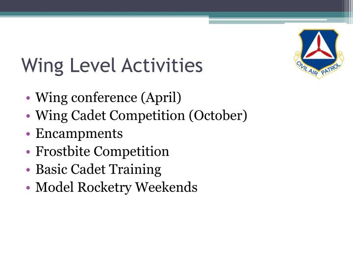 Wing Level Activities