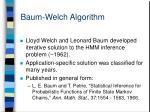baum welch algorithm