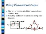 binary convolutional codes