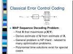 classical error control coding