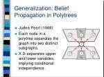 generalization belief propagation in polytrees