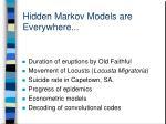 hidden markov models are everywhere